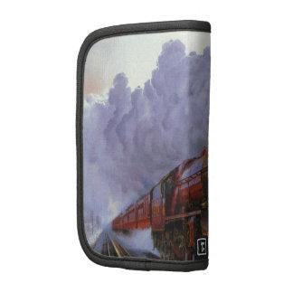 Train Snow Winter Painting  Smoke Folio Planner