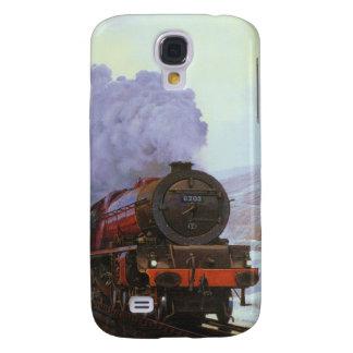 Train Snow Winter Painting  Smoke Samsung Galaxy S4 Case