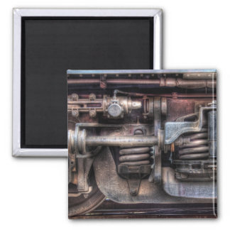 Train - Springs and Things 2 Inch Square Magnet