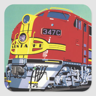 Train Square Sticker