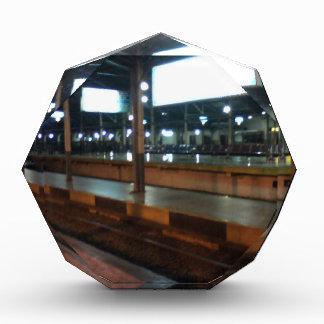 train station acrylic award