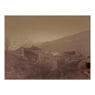 Train Station and Coal Depot by Gustave Le Gray Poster