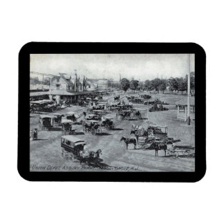 Train Station, Asbury Park, New Jersey Vintage Magnet