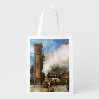 Train Station - Boston & Maine Railroad Depot 1910 Reusable Grocery Bag