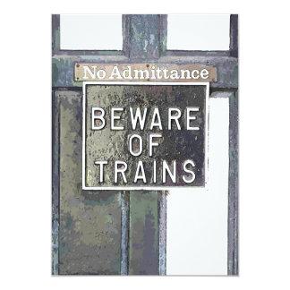 TRAIN STATION CARD