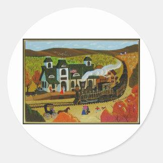 Train Station Classic Round Sticker