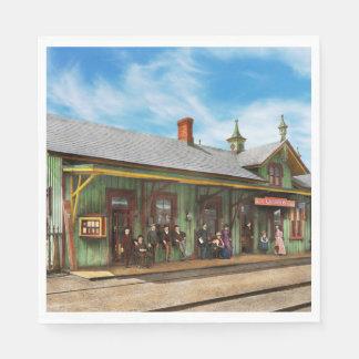 Train Station - Garrison train station 1880 Napkin
