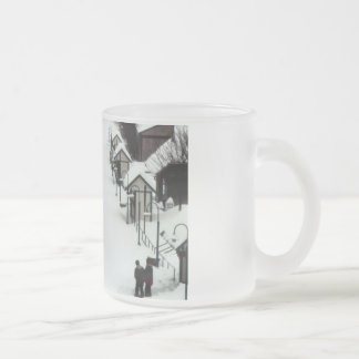 Train Station, Germantown, MD 10 Oz Frosted Glass Coffee Mug