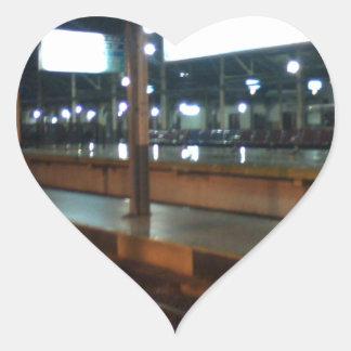 train station heart sticker