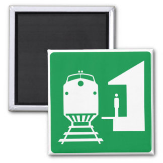 Train Station Highway Sign Magnet