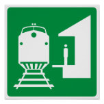 Train Station Highway Sign Print