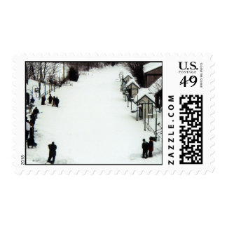 Train Station in winter, Germantown, MD Postage