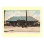 Train Station, Newark, New Jersey Vintage Postcard