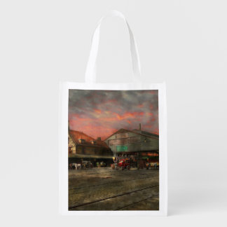 Train Station - NY Central Railroad depot 1905 Grocery Bag
