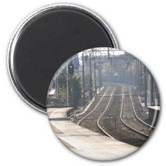 Train station on the Miura Peninsula in Japan 2 Inch Round Magnet