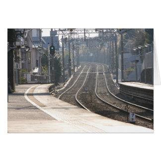 Train station on the Miura Peninsula in Japan Card