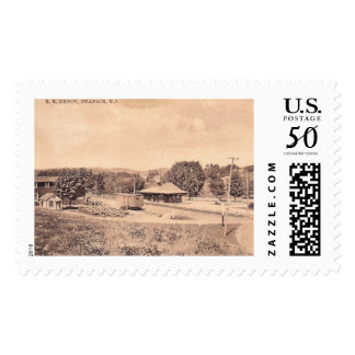 Train Station, Peapack, New Jersey Vintage Postage