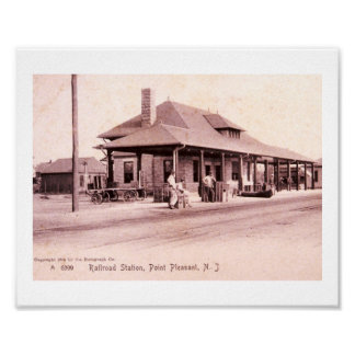 Train Station, Point Pleasant, New Jersey Vintage Poster