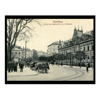 Train Station Post Office Heidelberg Germany Vin Postcard