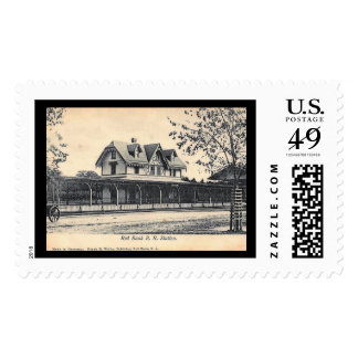 Train Station, Red Bank, New Jersey Vintage Postage