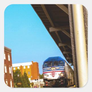 Train Station Square Sticker
