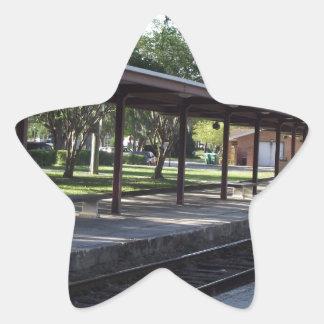 Train Station Star Sticker