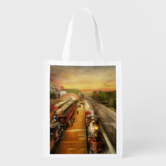 Train Station - The romance of the rails 1908 Grocery Bag