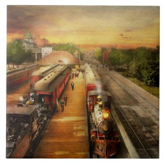 Train Station - The romance of the rails 1908 Tile