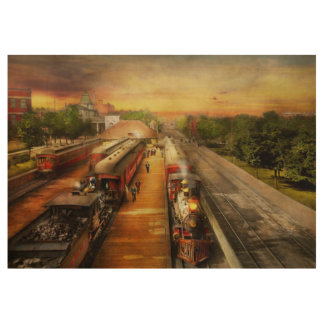 Train Station - The romance of the rails 1908 Wood Poster