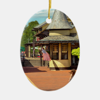 Train Station - There will always be hope Ceramic Ornament