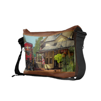 Train Station - There will always be hope Messenger Bag