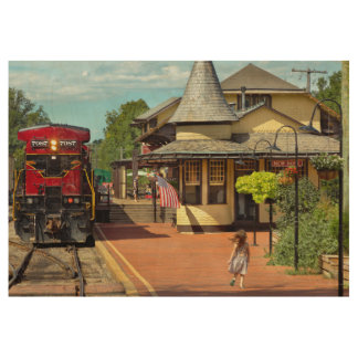Train Station - There will always be hope Wood Poster
