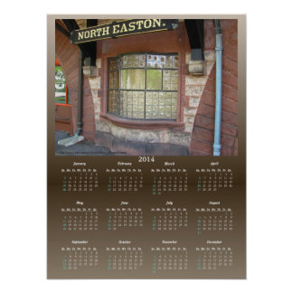 Train Station Window calendar ~ print