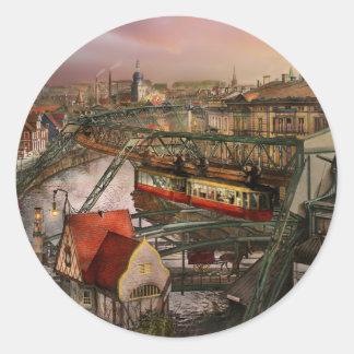 Train Station - Wuppertal Suspension Railway 1913 Classic Round Sticker