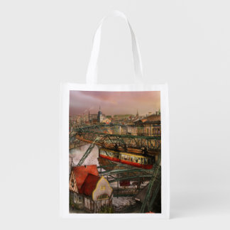 Train Station - Wuppertal Suspension Railway 1913 Grocery Bag