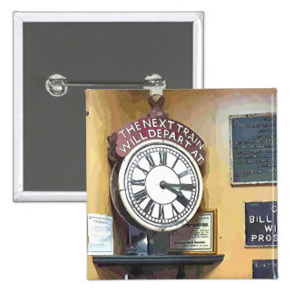 TRAIN STATIONS 2 INCH SQUARE BUTTON