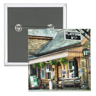 TRAIN STATIONS UK 2 INCH SQUARE BUTTON