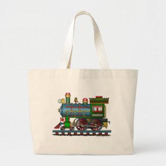 Train Steam Engine Choo Choo Bags/Totes Jumbo Tote Bag