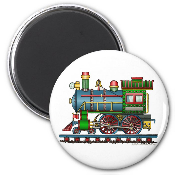 Train Steam Engine Choo Choo Magnets