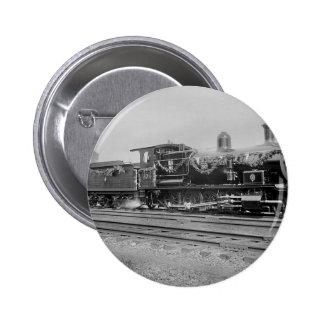 train steam locomotive engine old railway railroad button