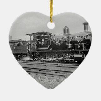 train steam locomotive engine old railway railroad christmas tree ornament