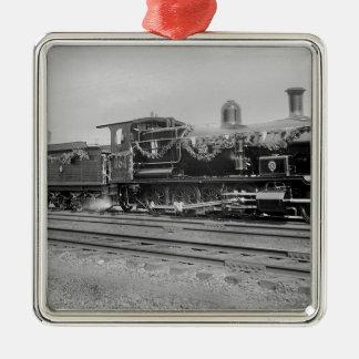 train steam locomotive engine old railway railroad ornament