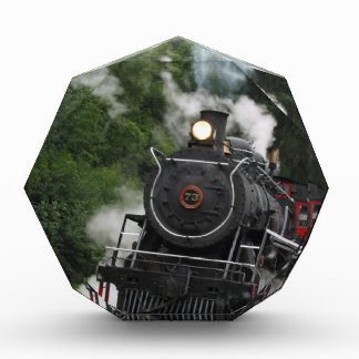 train steam rail railway station engine rails art acrylic award