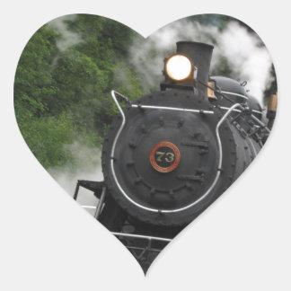train steam rail railway station engine rails art heart sticker