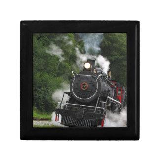 train steam rail railway station engine rails art jewelry box