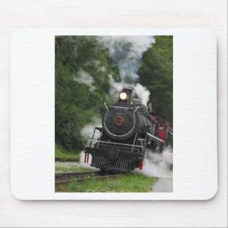 train steam rail railway station engine rails art mouse pad