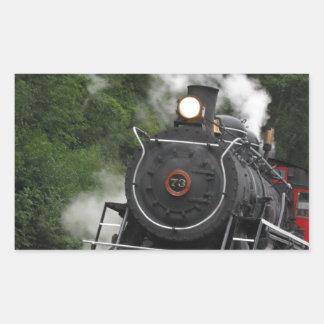 train steam rail railway station engine rails art rectangular sticker