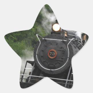 train steam rail railway station engine rails art star sticker