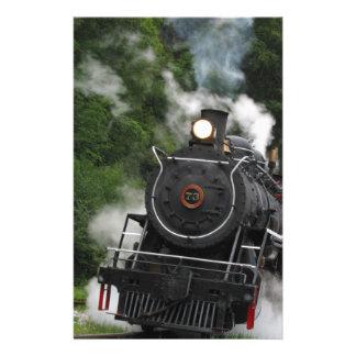 train steam rail railway station engine rails art stationery