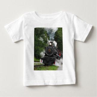 train steam rail railway station engine rails art t-shirt